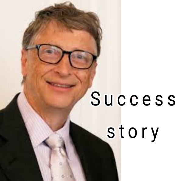Bill getes success story